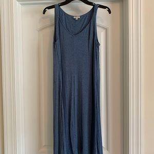 Midi tank dress, a line, cotton